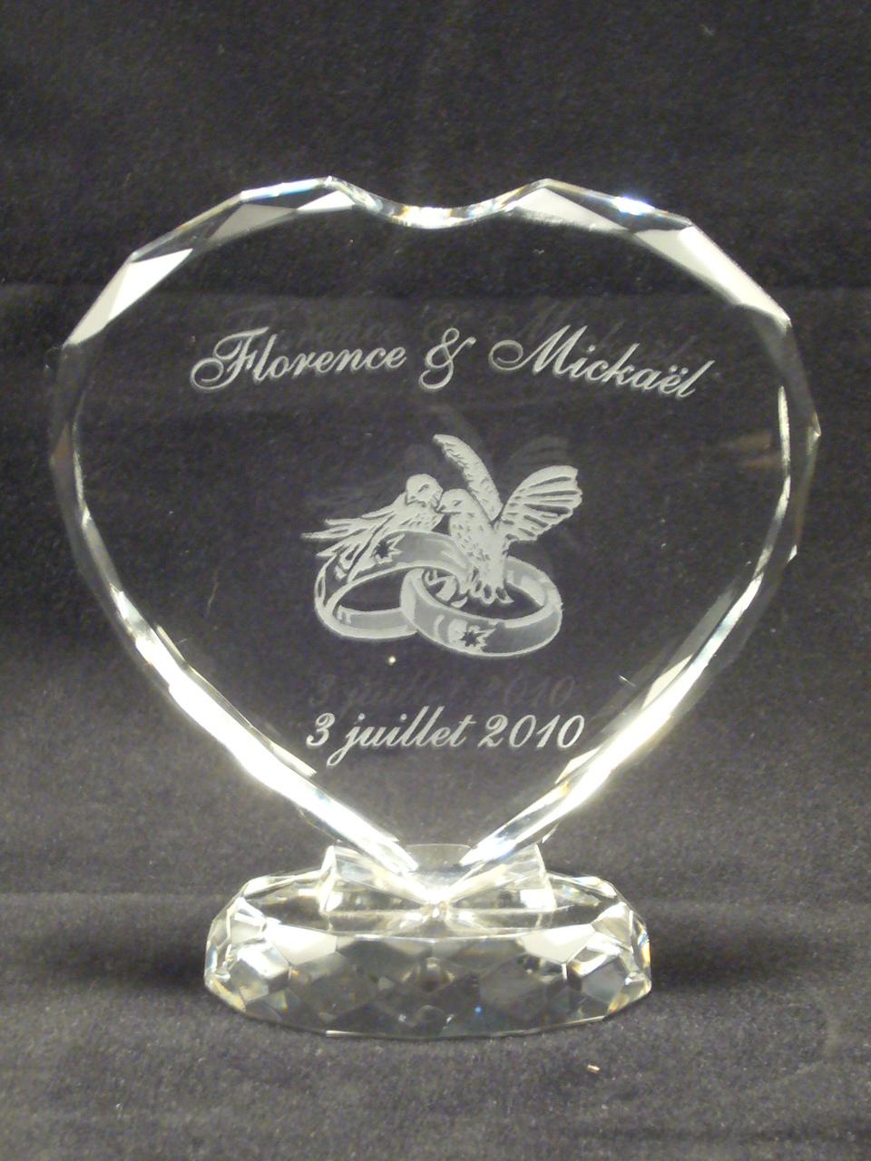 Gravures Sur Verre avec mariage | graveur sur verre