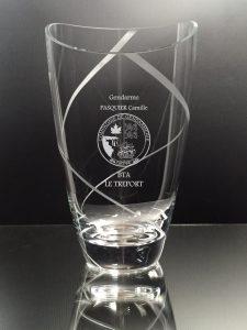 trophée gendarmerie vase
